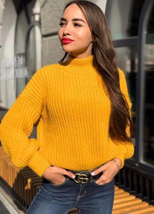 Стильный свитер оверсайз , свитер осень-зима, женский свитер