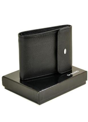 Кожаный мужской черный кошелек портмоне dr. bond натуральная кожа
