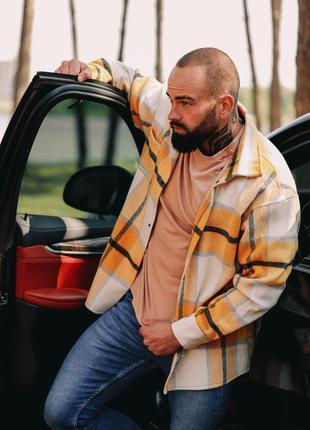 Крутая мужская утепленная рубашка в стиле zara