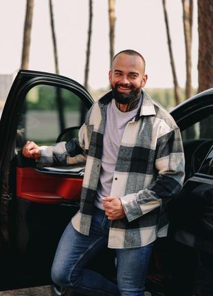 Крутая мужская теплая рубашка в стиле zara