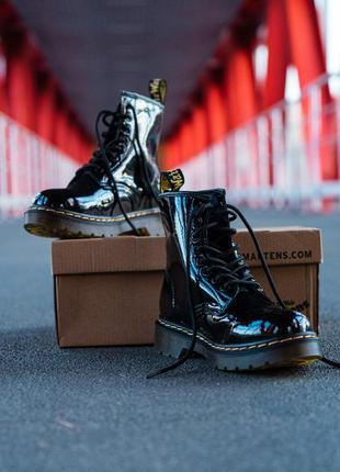 Ботинки dr. martens 1460 patent black черевики
