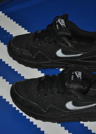 Nike air max черные кроссовки на мальчика 38 р 24 см