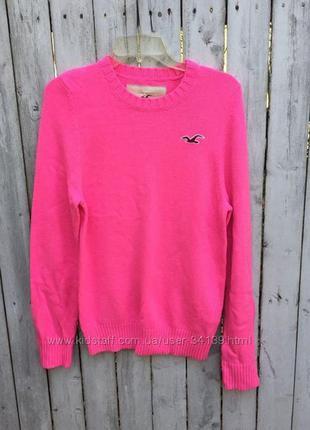 Яркий свитер hollister, р. l