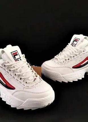 Новые женские кроссовки fila disruptor белые кеды т