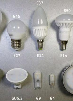 LED лампочки в ассортименте