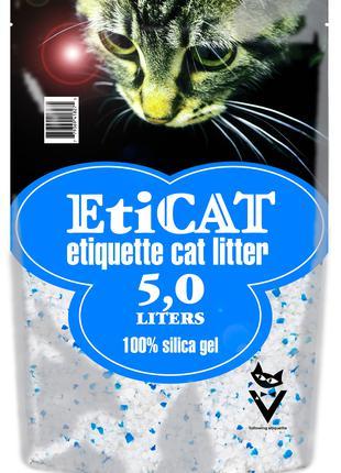 Силикагелевый Наполнитель для кошачьего туалета Eticat 5.0 л