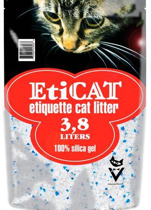 Силикагелевый Наполнитель для кошачьего туалета Eticat 3.8 л