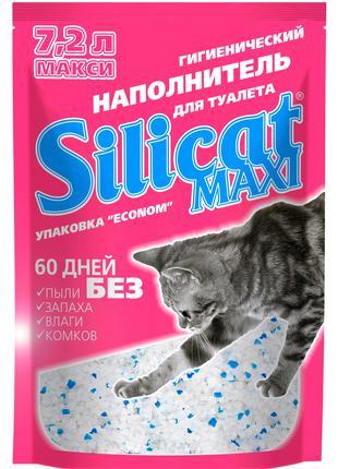 Силикагелевый  наполнитель для кошачьего туалета Silicat Maxi 7.2