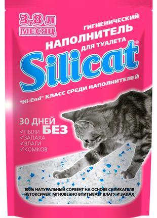 Силикагелевый Наполнитель для кошачьего туалета Silicat 3.8л