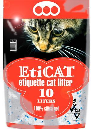 Силикагелевый Наполнитель для кошачьего туалета Eticat 10.0 л