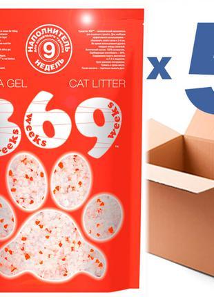Наполнитель для кошачьего туалета 369 7.2Lx5шт(36L)
