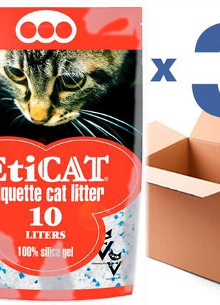 Наполнитель для кошачьего туалета Eticat10.0Lx3шт(30L)
