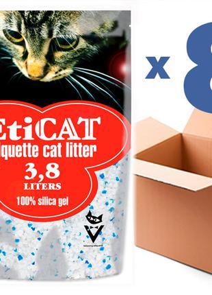 Наполнитель для кошачьего туалета Eticat 3.8Lx8шт(30,4L)