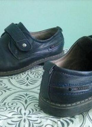 Кожаные туфли мальчику 8-9лет