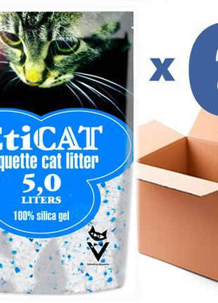 Наполнитель для кошачьего туалета Eticat 5,0Lx6 шт(30L)
