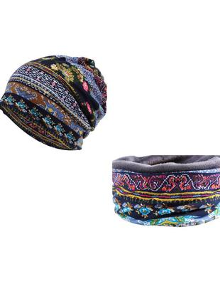 Комплект шапкой с отверстием под хвост