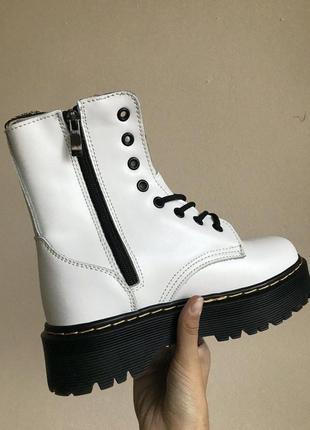 Зимние ботинки dr. martens white на меху #art0521