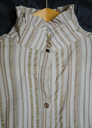 Красивая блуза-рубашка в полоску
