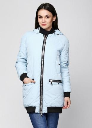 Скидка куртка стеганная на манжете