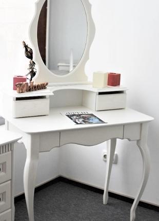 Туалетный столик с зеркалом Скарлет из дерева