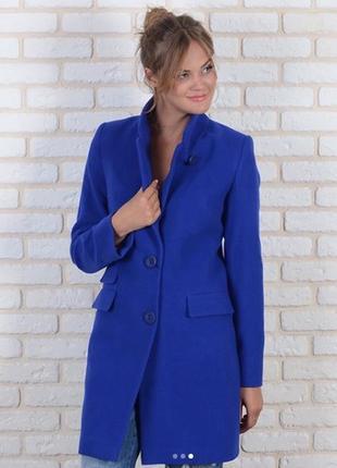 Пальто пиджак честрефилд 42-48р синее