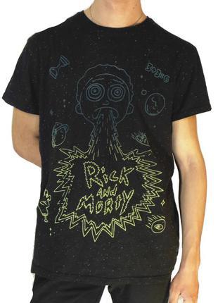 """Мужская футболка primark """"rick and morty"""" / рик и морти"""