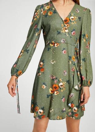 Платье а цветочный принт