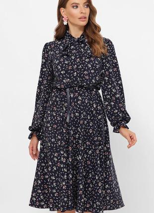Красивое женственное платье с поясом * отличное качество