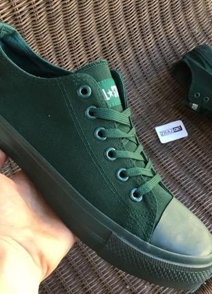 Мужские кеды кроссовки! темно зеленые star ! цвет хаки!
