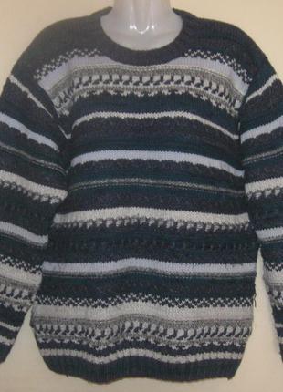 Свитер - реглан мужской очень теплый, большой 52-54  размер. м...