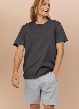 Однотонная хлопковая футболка h&m !