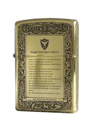 Fire & Blood Game of Thrones Zippo игра престолов оригинал Stok13