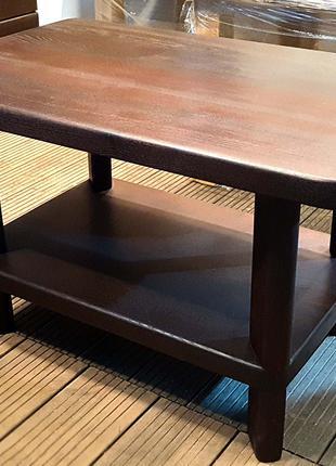 Кофейный столик ручной работы из термоясеня