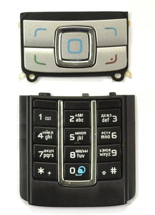 Клавиатура Nokia 6280 Silver