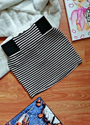 Подростковая стильная бандажная плотная юбка - резинка topshop...