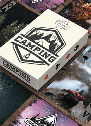 Карты Игральные Сувенирные Camping. Кемпинг