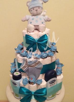 Торт з памперсів | Торт из подгузников №6