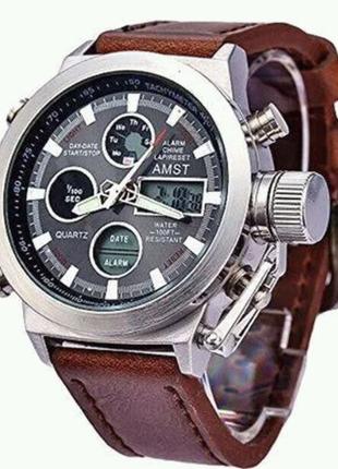 Мужские наручные армейские часы AMST  Армейские часы AMST подарок