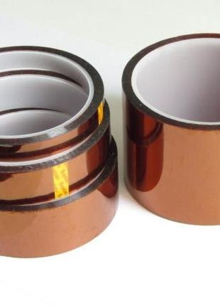 Термоскотч термостойкий скотч каптоновый, 5 мм полиамидный каптон