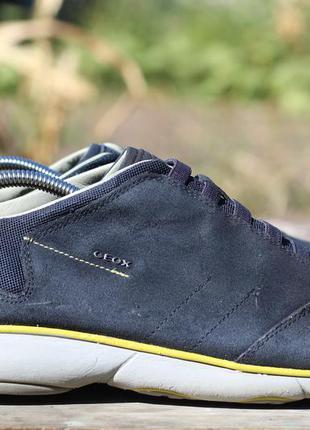 Кожаные туфли, мокасины geox с дышащей подошвой 45-46
