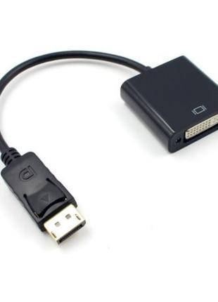 Адаптер переходник с DisplayPort на DVI преобразователь DP to DVI