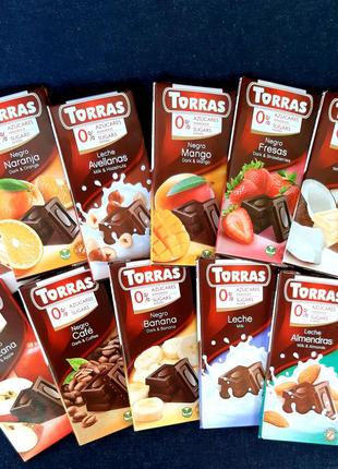 Шоколад Торрас без цукру, без глютена