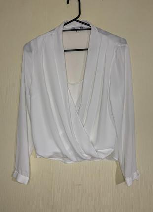 Белая блуза под шифон tally weijl.
