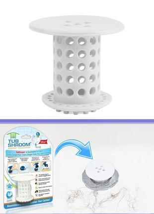 Пробка для ванны антиволос TUB SHROOM