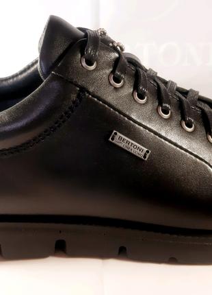 Кожаные туфли-кеды BERTONI спорт-комфорт,весна-осень,42,43,45.
