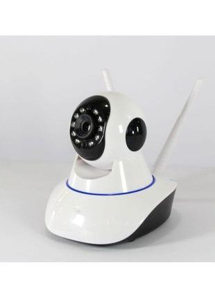 Поворотная беспроводная IP камера видеонаблюдения WiFi microSD...