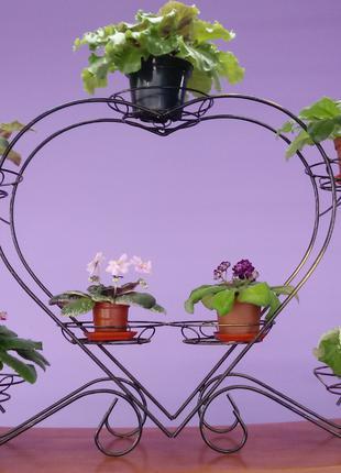 Подставка для цветов Сердце 7
