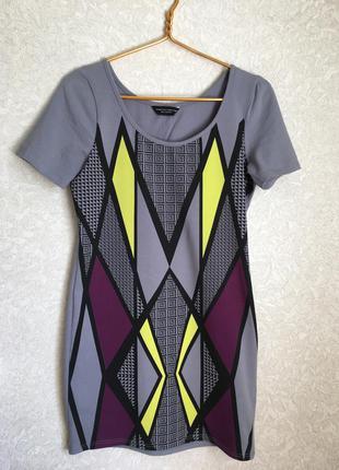Классное трикотажное платье футболка