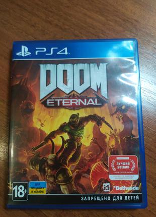 Диск с игрой Doom Eternal на PS 4