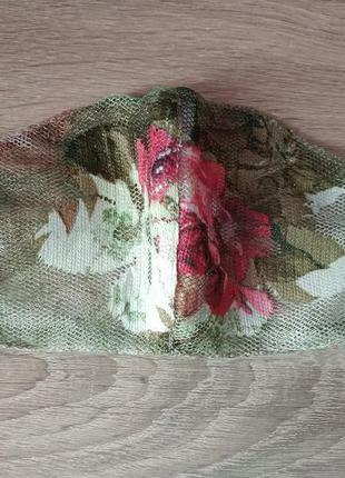 Люксовая маска прозрачная  (роза)